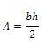 Triángulo formula
