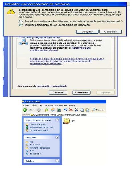 Habilitar uso compartido de archivos