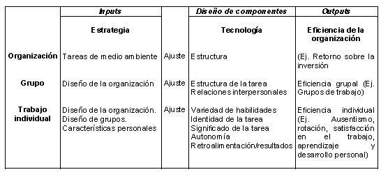 Proceso de transformación y outputs
