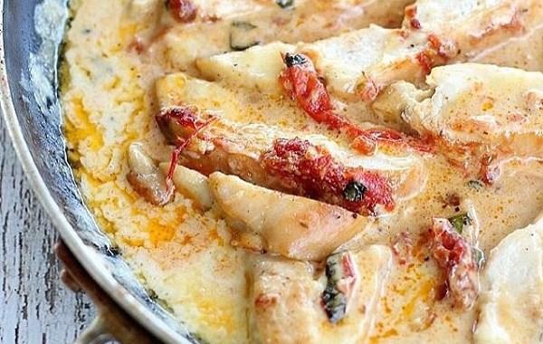 دجاج بالريحان والكريمة وصفة للغداء
