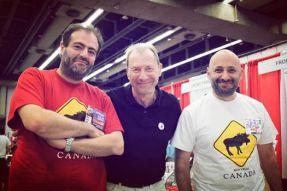 Tarek, David Lloyd et Vincent Pompetti