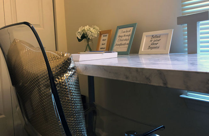 DIY Marble Table For Office