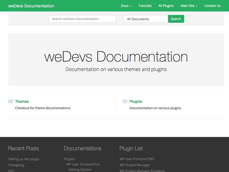 weDocs - A documentation theme for WordPress