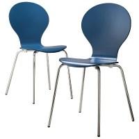 Porter Modern Stacking Chair - Blue (Set of 2) : Target