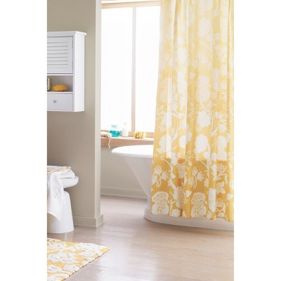 Ombre Floral Shower Curtain Yellow Threshold™ Target