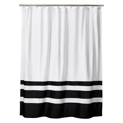 Color Block Shower Curtain Black White Threshold™ Target