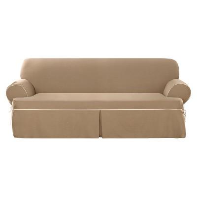 rose sofa slipcover collection edinburgh upc 047293408120 - sure fit contrast cord cocoa t ...