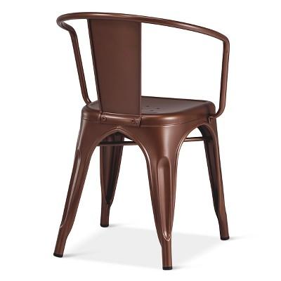 Carlisle Low Back Metal Dining Chair  Target