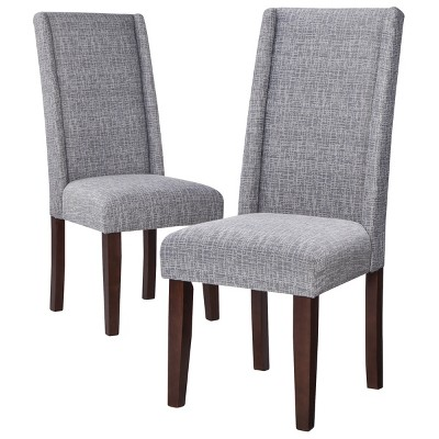 wing dining chair cowhide covers charlie modern wingback set of 2 ebay