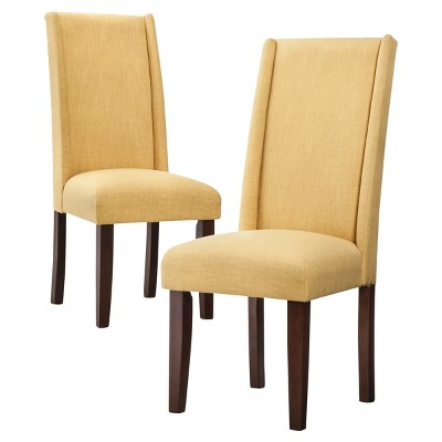 Wingback Dining Chairs Charlie Modern Wingback Dining Chair Set Of 2 Ebay