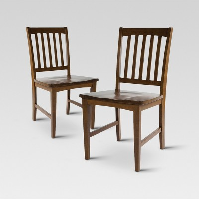 target chairs dining desk chair uk slat back set of 2 threshold ebay