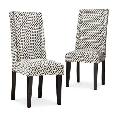 black chairs target pier one outdoor charlie modern wingback dining chair set of 2 ebay