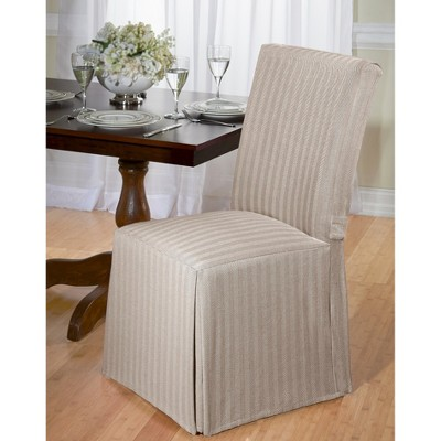 Slip Cover Chairs Herringbone Dining Room Chair Slipcover Ebay
