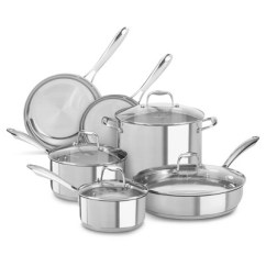 Kitchen Pans Tall Tables Stainless Steel Pots Target