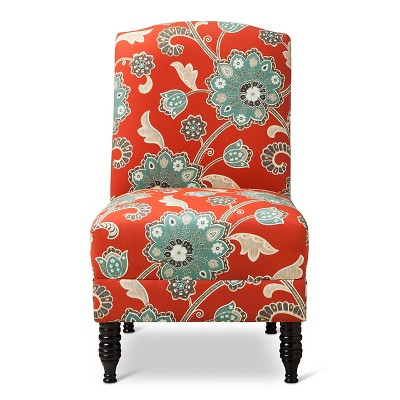 upholstered slipper chair avington graco brompton high mallory prints - skyline imports : target