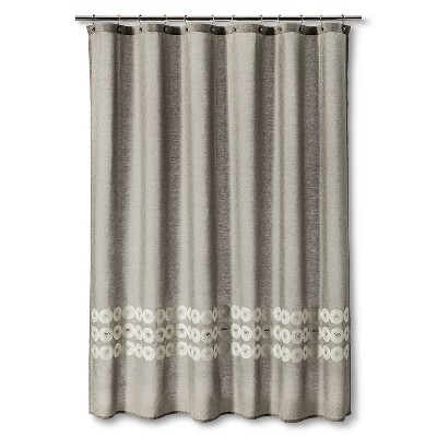 Shower Curtain Grey Circles Threshold™ Target