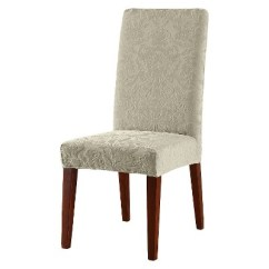 Dining Chair Covers Target Office Chairs For Sale Stretch Jacquard Damask Short Room Cover