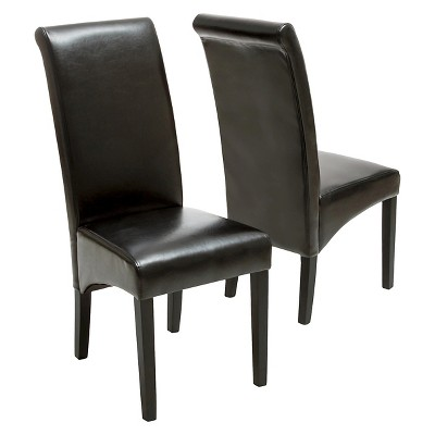 Leather Chairs Target Morgan Bonded Leather Dining Chairs Wood Set Of 2