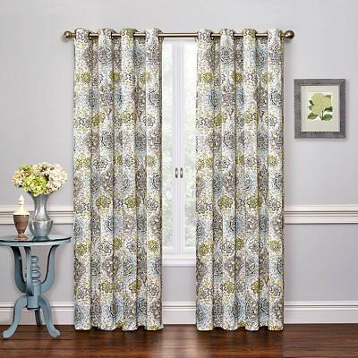 Waverly Kings Turban Curtain Panel  Grey 52x84  eBay