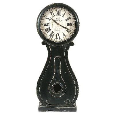 Black Wood Mantle Clock