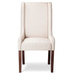 Beige Dining Chairs Tufted Swivel Chair Charlie Modern Wingback Swoop Arm 1