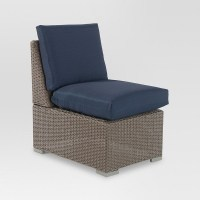 Heatherstone Wicker Patio Sectional Armless Chair ...