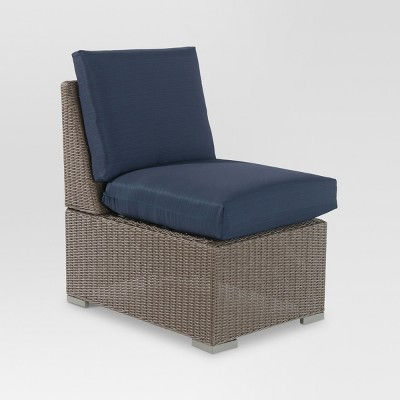 Heatherstone Wicker Patio Sectional Armless Chair