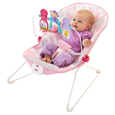 bouncy chairs for babies shower chair transfer bench fisher price bouncer pink ellipse ebay