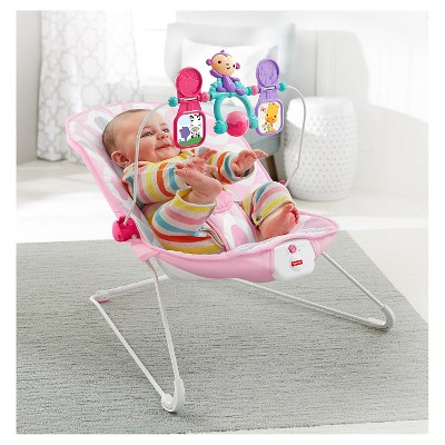 bouncy chair target comfy chairs for living room fisher price bouncer pink ellipse ebay