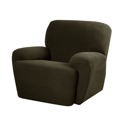 target stretch chair covers gmc acadia captain removal pixel recliner slipcover 4 piece maytex ebay