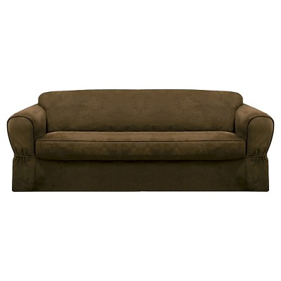 Piped Suede Loveseat Slipcover  Maytex Ebay