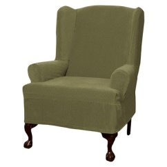 Wingback Chair Covers Amazon Hanging Revit File Collin Stretch Wingchair Slipcover Maytex Ebay