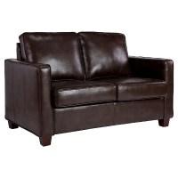 Square Arm Bonded Leather Loveseat - Threshold | eBay