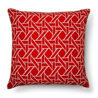Oversized Throw Pillow Woven Caning