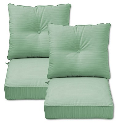 target chair cushions hammock chairs indoor folwell 2pk deep seat back cushion seafoam threshold ebay
