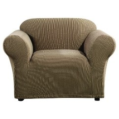 Sure Fit Stretch Stripe 2 Piece Sofa Slipcover Sand Burlap Cover Ticking Chair Ebay