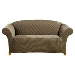 Sure Fit Stretch Stripe 2 Piece Sofa Slipcover Sand Sofas At Macys Ticking Loveseat Ebay