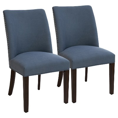 barrel dining chairs set of 2 swivel chair vs glider parker with nailheads