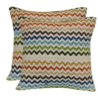 Multi Colored Chevron Throw Pillow with Canvas Back : Target