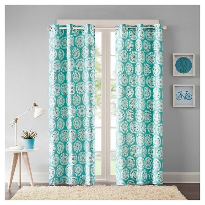 Rieti Medallion Printed Curtain Panel Pair Target