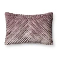 Violet Pleated Velvet Lumbar Pillow - Fieldcrest : Target