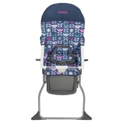 How To Fold Up A Cosco High Chair Yoga Certification Ct Simple In Poppy Field Ebay