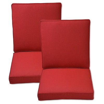 dining chair cushions target houzz chairs contemporary fabron 2 piece outdoor cushion set