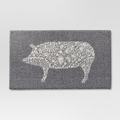 grey kitchen mat timers rugs mats target rug pig threshold