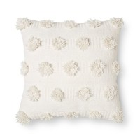 "Cream Pom Dot Square Throw Pillow (18""x18"") - Nate Berkus ..."