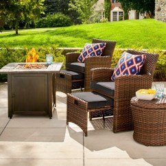Target Sling Chair Tan Childrens Upholstered Chairs Uk Halsted 5-pc. Wicker Small Space Patio Furniture Set - Threshold :