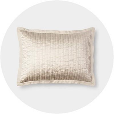 beige pillow shams target