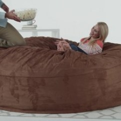 6 Foot Bean Bag Chair Lift Chairs Walgreens Relax Sack Ft Large Memory Foam Lounger Target 7 More