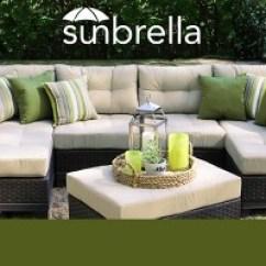 Sunbrella Fabric Sectional Sofas Sofa Set Blue Colour New With