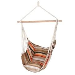 Hammock Chair Stand Calgary Outdoor Tolix Hammocks Target Beach Sunrise Swing With Pillows Brown Orange Stripe Sunnydaze Decor